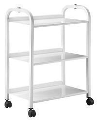 TM-3 Metal Auxiliary table with 3 shelves with power bar By Equipro