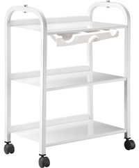 TM-3 Metal Auxiliary table w/3 shelves , ONE DRAWER and Power Bar - by Equipro