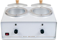Double wax warmer w/ containers and lids