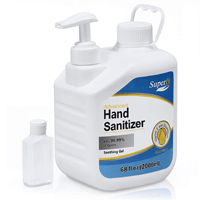Hand Sanitizer 2L w/pump (70% alcohol) and 2oz refillable bottle