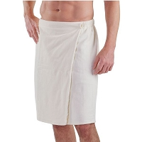 Terry Cotton Men Wrap - White