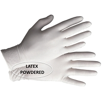 Gloves Latex - HQ - Cuffed 100 /pk
