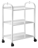 TM-3 Metal Auxiliary table w/3 shelves and Power Bar - by Equipro