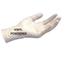 Gloves Vinyl - HQ - Cuffed 100 /Box
