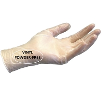 Gloves Vinyl Powder Free- HQ - Cuffed 100 /Box