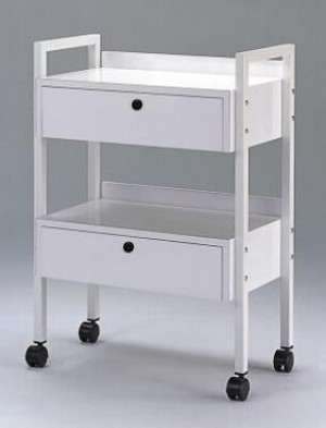 Trolley 2 Shelves with 2 drawers