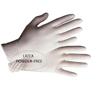Gloves Latex Powder Free - HQ- Cuffed 100 / Box