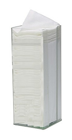 "Acrylic Holder   Dispenser For Cotton Sponge Pads - 4"" X 4"" - Clear"