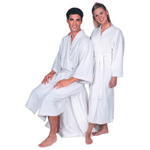 Terry Cotton Spa Robe - Unisex - White