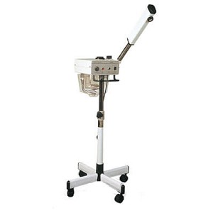 Steamer with ozone and adjustable arm