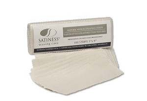"Natural muslin wax strips 3""x9"" 100/pk"